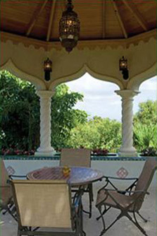 Kismet St John Villa Dining in the Tower with 360 Degree Views