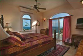 St John Villa Kismet Horizon Suite King Sized Bed and Ocean View