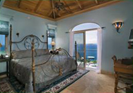 Kismet St John Horizon Suite King Sized Bed and Ocean View