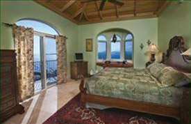 St John Villa kismet Sunset Suite King Bed and Ocean View