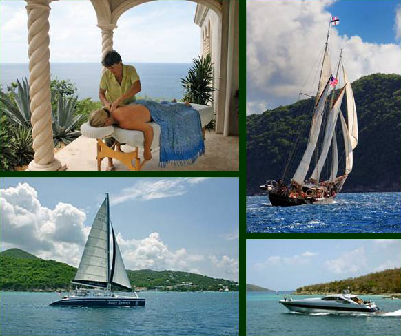 St John Villa Massage at Kismet and Sailing Charters in the Virgin Islands